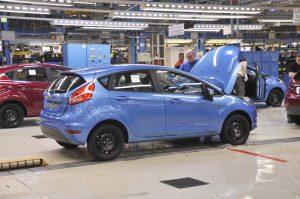 Autoproduktion bei Ford in Köln
