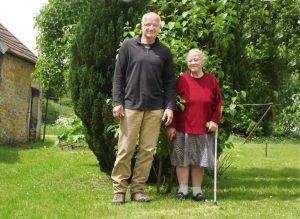 Samariterin Evelyn und ihr Patient