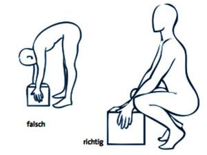 Zieht das Unterteil die Lende und tun die Beine weh