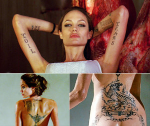 angelina jolie tattoos 14