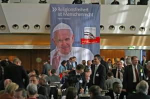 Banner Papst Franziskus