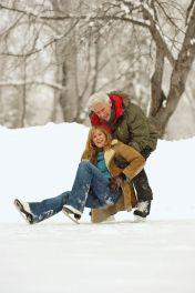 Osteoporoserisiko Eis und Schnee