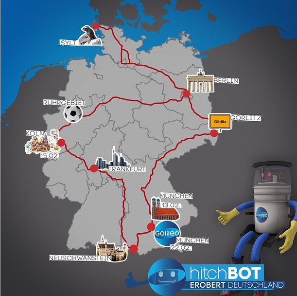 hitchbot-reise in Deutschland
