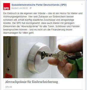 Die SPD mit sozialem Einbrecherausgleich.