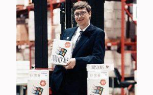 Bill Gates mit Windows 3