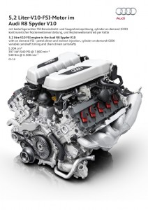 5.2 litre V10 FSI engine