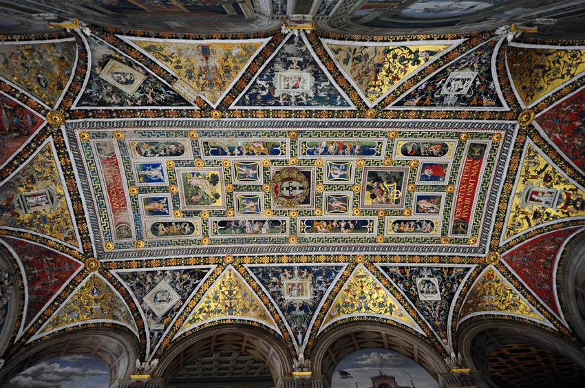 Blick auf das Gewölbe Bottega del Pinturicchio