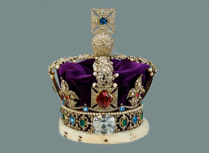 Diamanten stars und kronjuwelen rantlos - Englisch krone ...